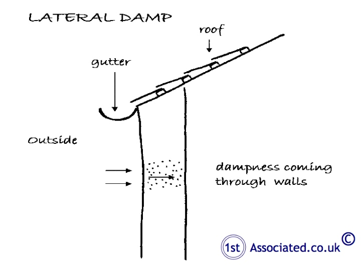 Lateral or penetrating dampness